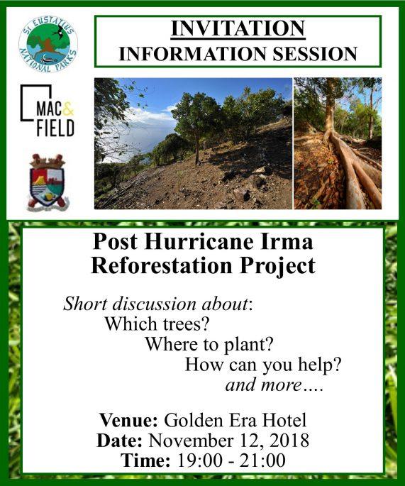 Info Session On Reforestation Of Statia St Eustatius National